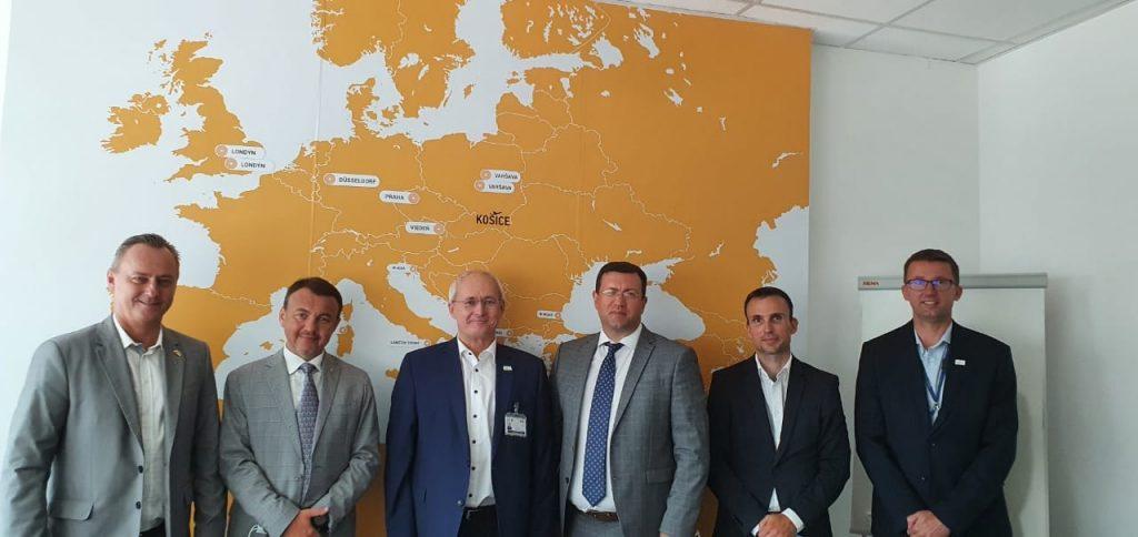 Зустріч між керівництвом Закарпаття та словацького Кошице щодо співпраці аеропортів