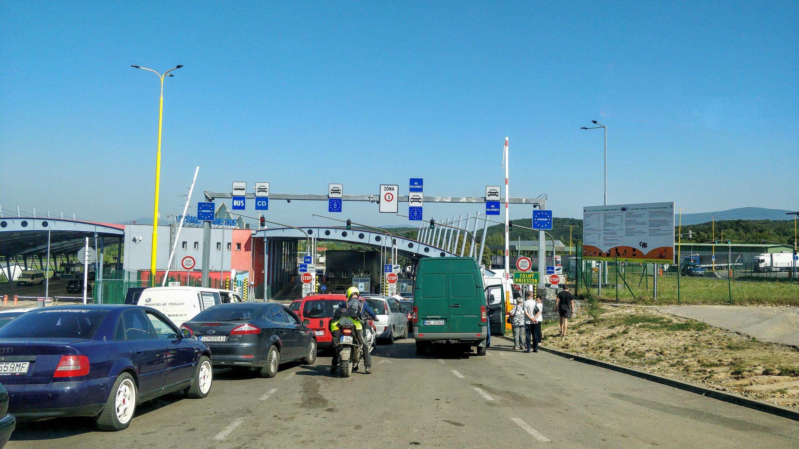 Border Uzhhorod Slovak Side